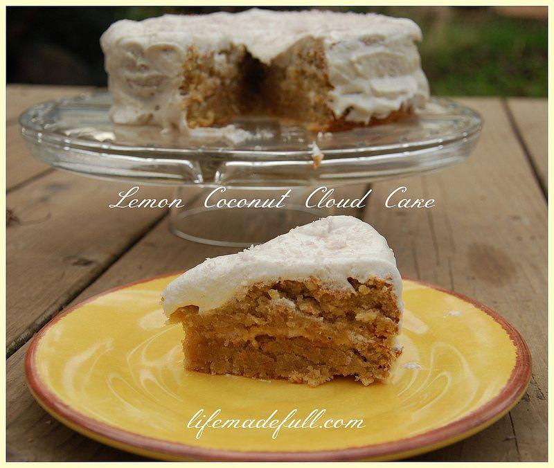 Lemon Coconut Cloud Cake