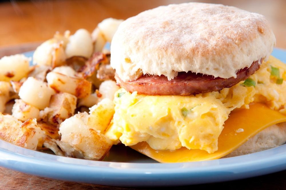 sausage egg sanwich