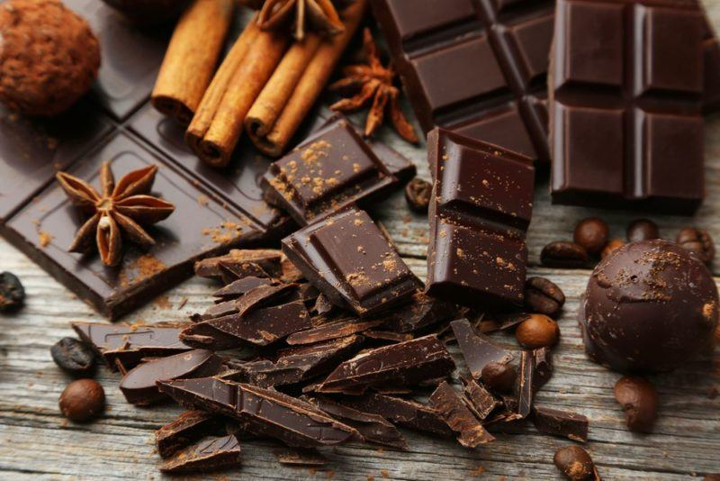 dark chocolate cinnamon coffee beans