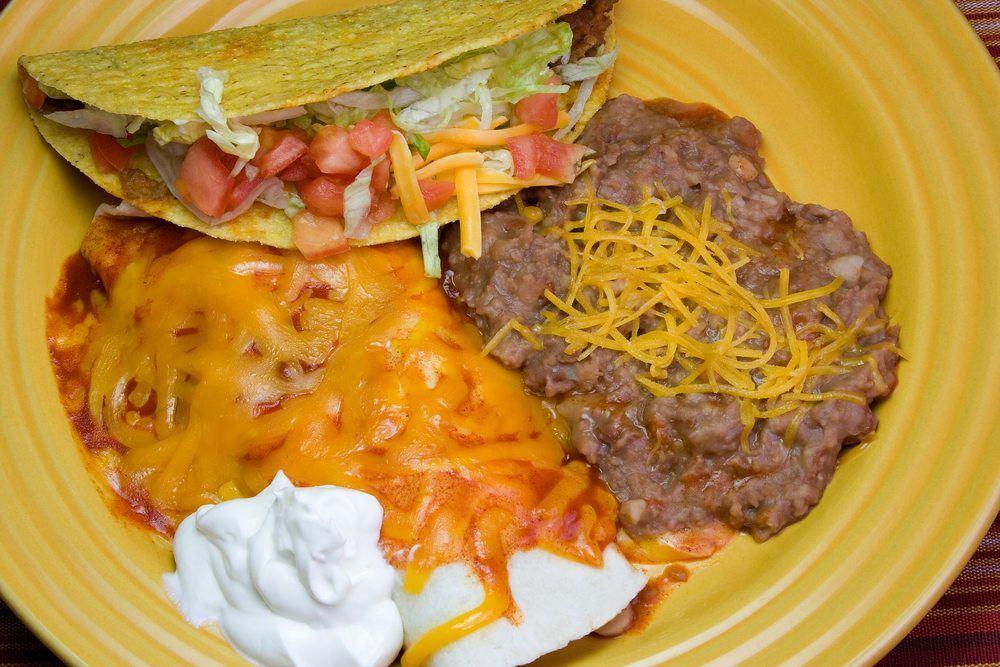 refried beans enchilada taco