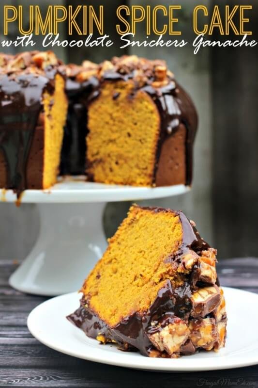 Snickers Pumpkin Spice Cake