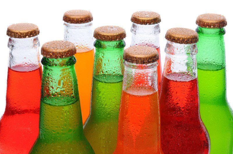 Soda in bottles