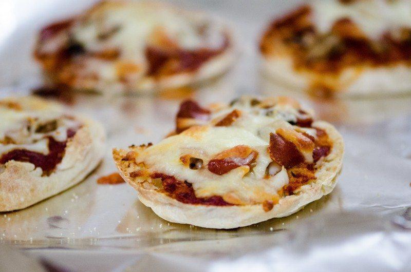 Homemade mini pizza