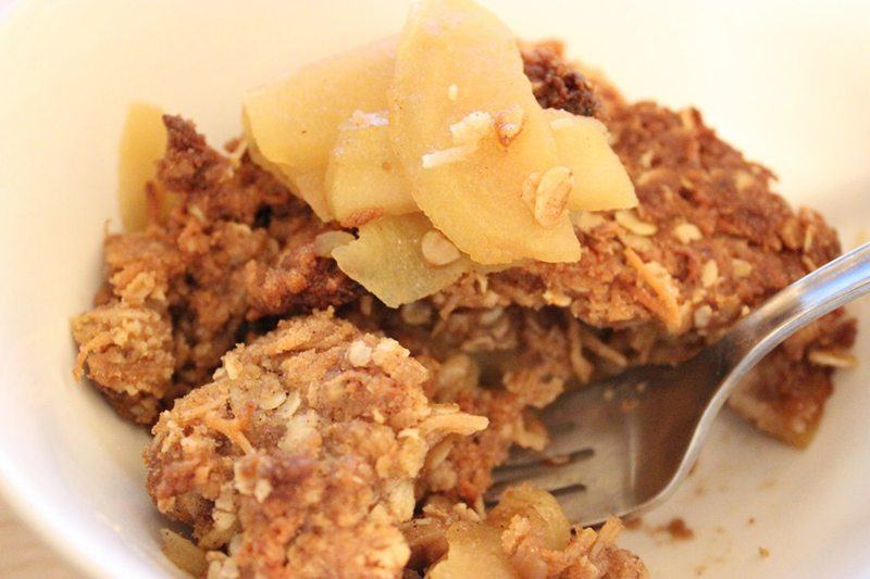 Brown Rice Flour Apple Crisp with Walnuts