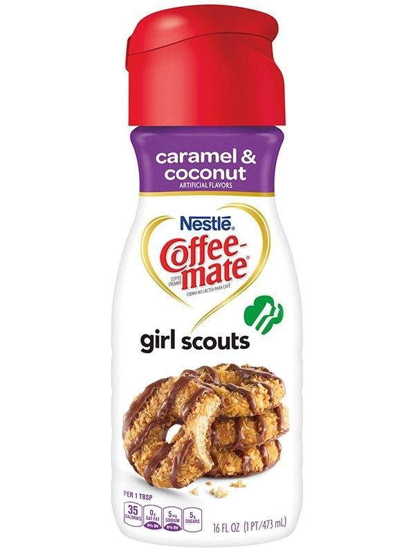 Coffee Mate Girl Scouts Caramel and Coconut Creamer
