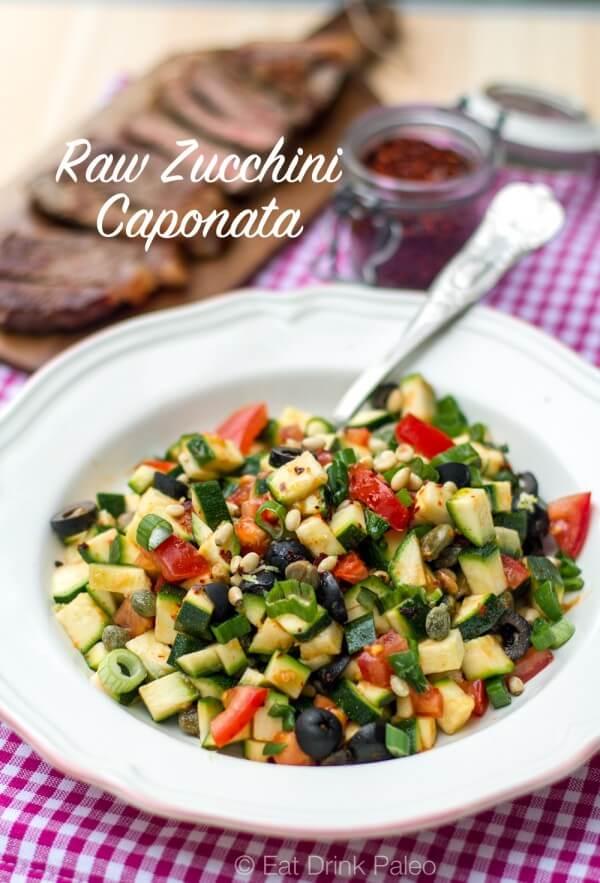Raw Zucchini Caponata