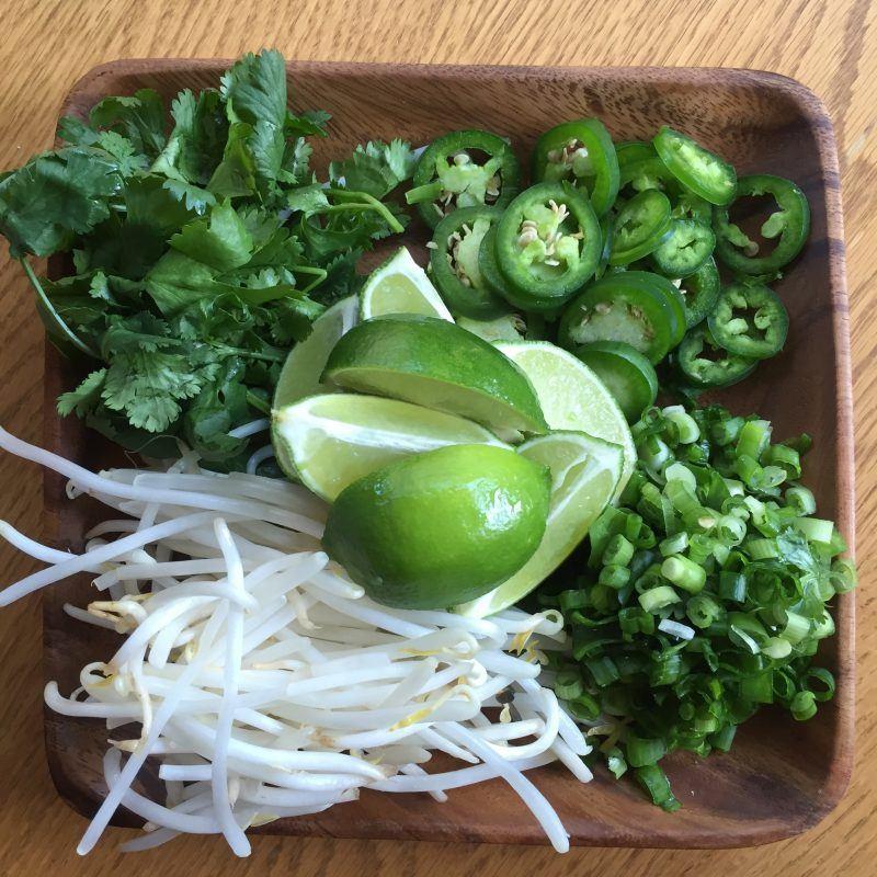 Veggies for Pho