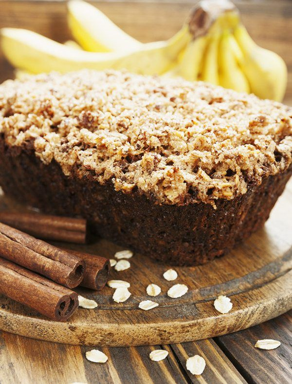Oat-Crumble Banana Bread with Salted Caramel