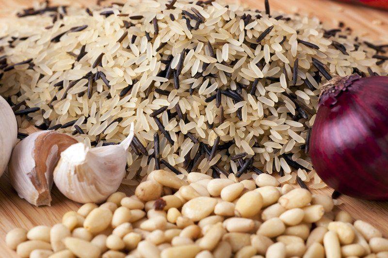 Crock-Pot Vegan Stuffing with Rice and Mushrooms