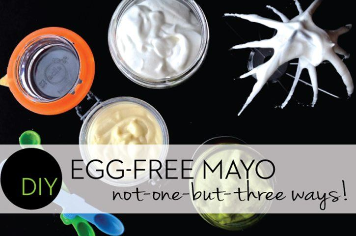 DIY Egg Free Mayo 3 Ways (no eggs)