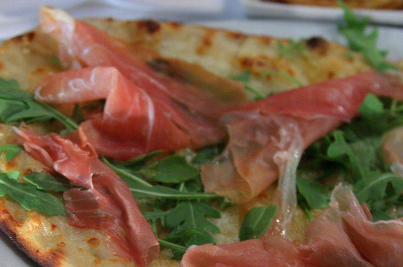 Eggplant-Based Prosciutto and Arugula Pizza