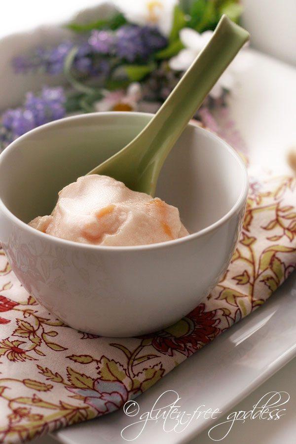 Vegan Nectarine Ice Cream