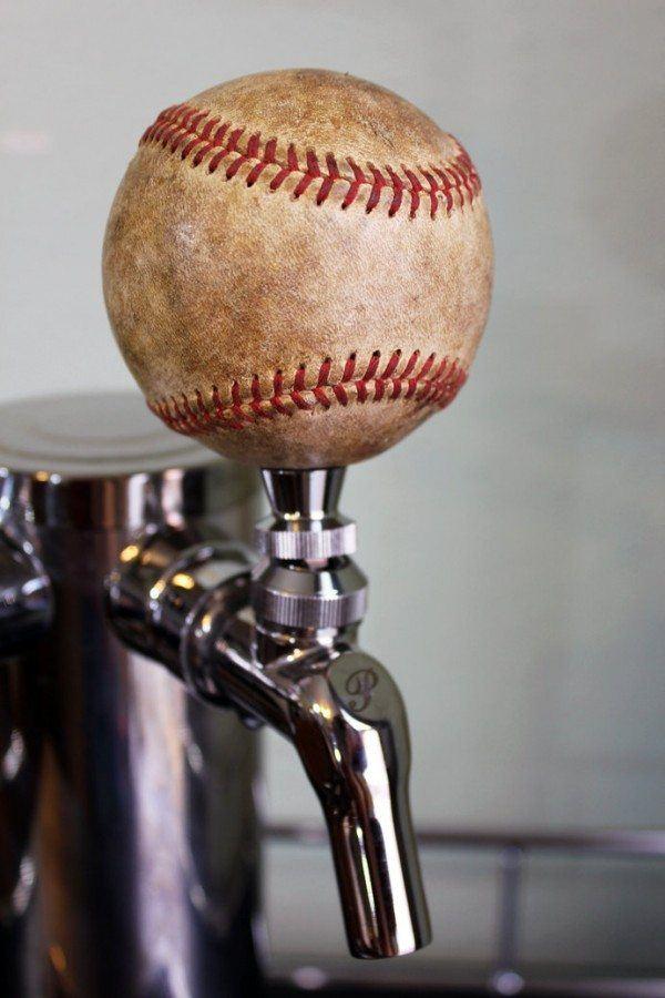 Repurposed Baseball Beer Tap