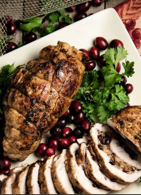 Cranberry and Apple Stuffed Turkey Breast
