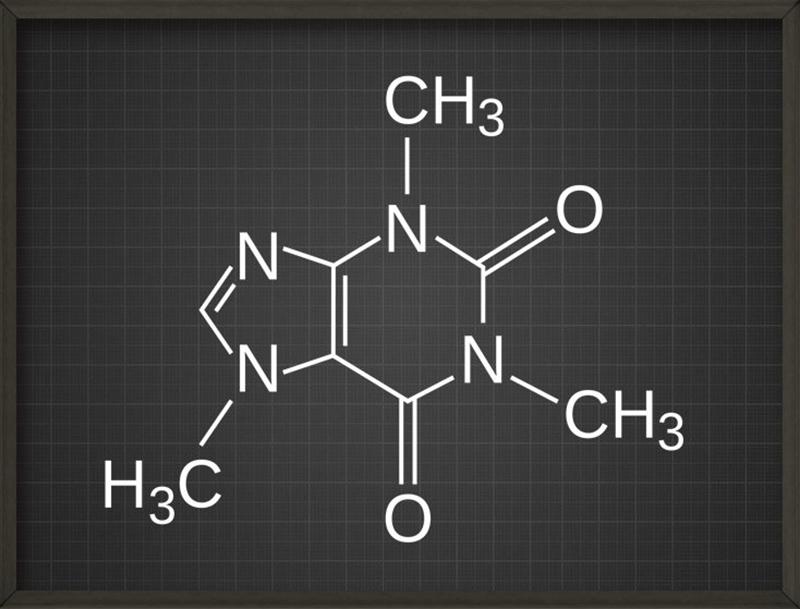 Caffeine Molecule Poster