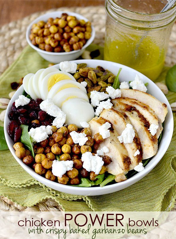 Chicken Power Bowls with Garbanzo Beans