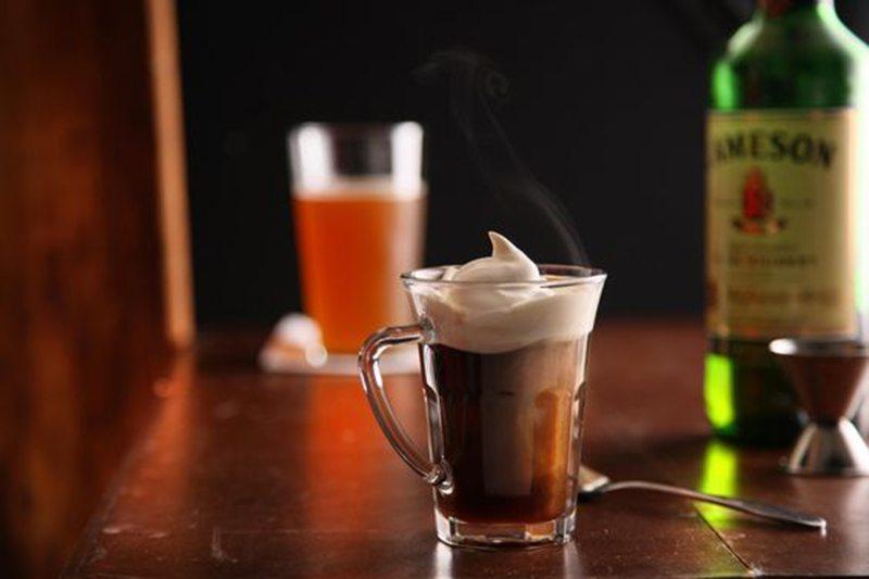 Classic Irish Coffee and Cream
