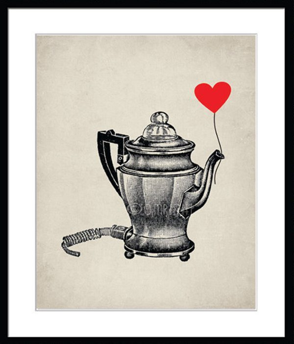 Coffee Equipment Vintage Poster