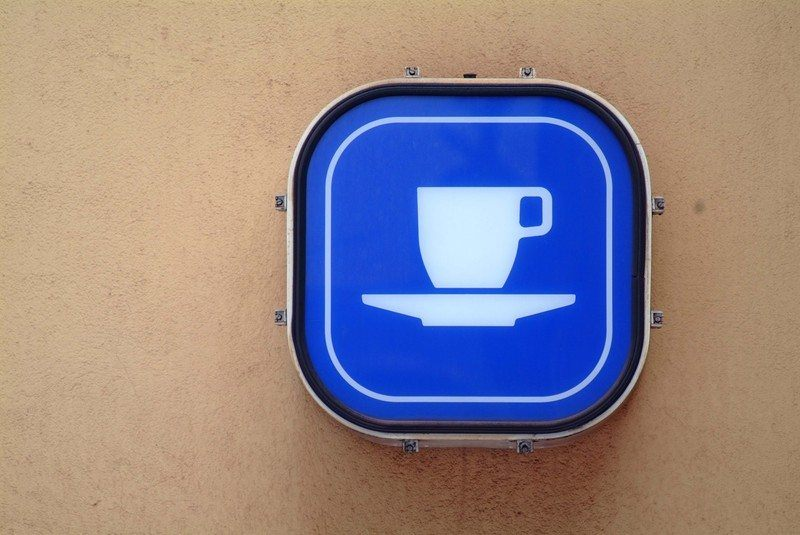 coffee sign on wall