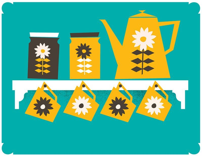 Mid-Century Inspired Coffee Poster