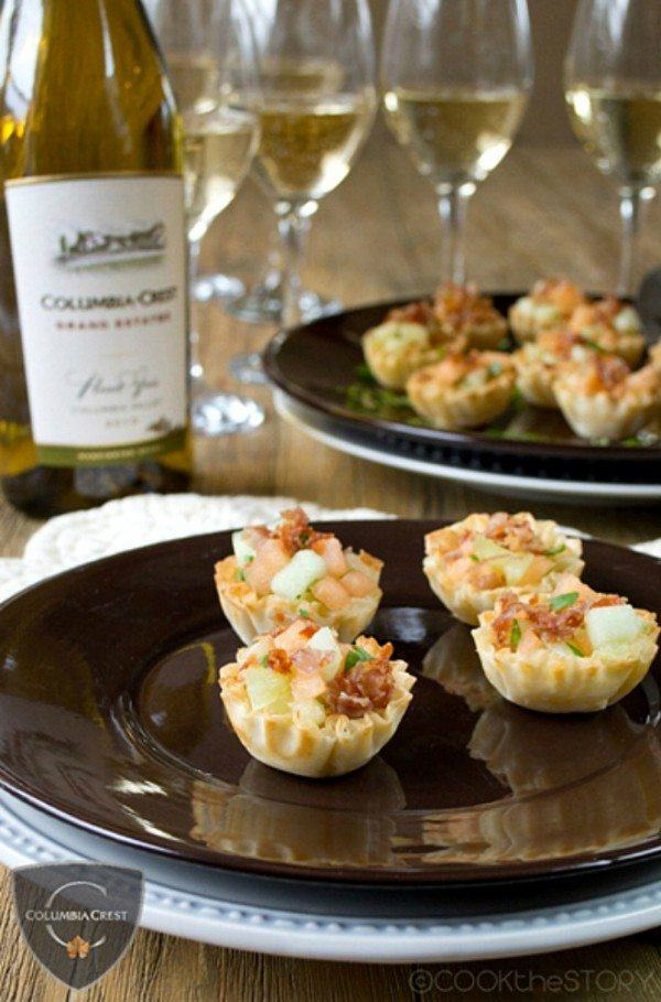 Prosciutto Appetizer Cups with Melon