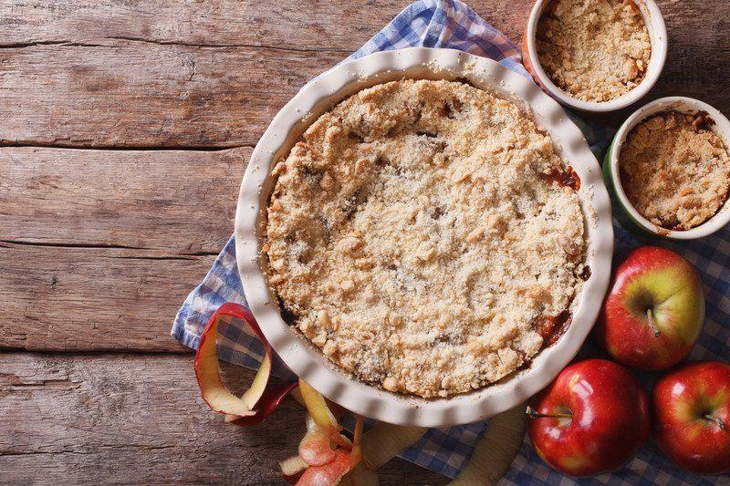 Rhubarb Apple Crisp with gluten free ingredients
