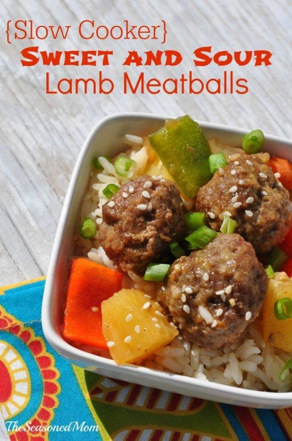 Sweet and Sour Lamb Meatballs