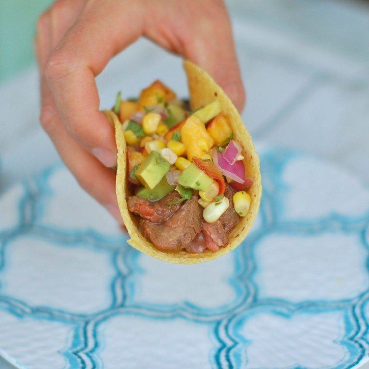 Steak Tacos with Nectarine Salsa