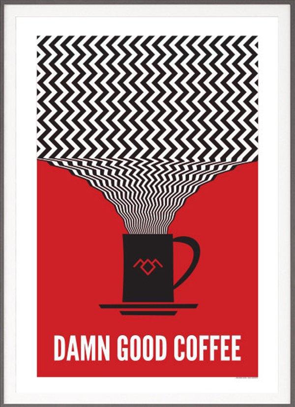 Twin Peaks Damn Good Coffee Poster