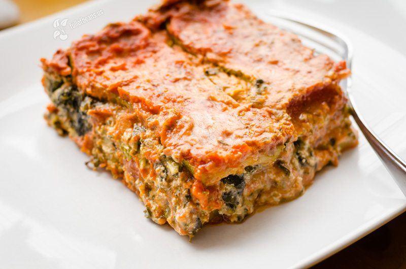 Vegan Zucchini and Spinach Lasagne 1