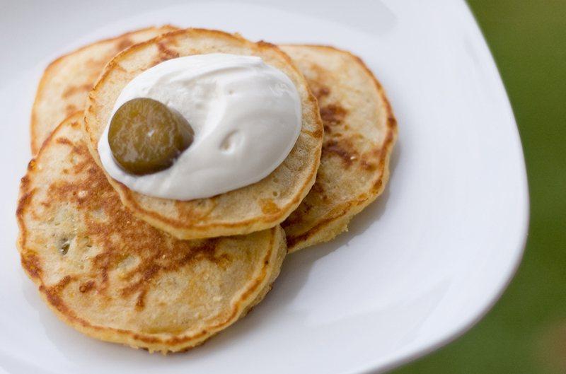 Veggie and Cheese Pancakes