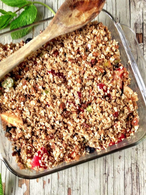 Wild Blueberry and Apple Crisp with a Healthy Twist