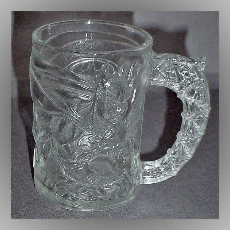 Embossed Batman Forever Glass Mug