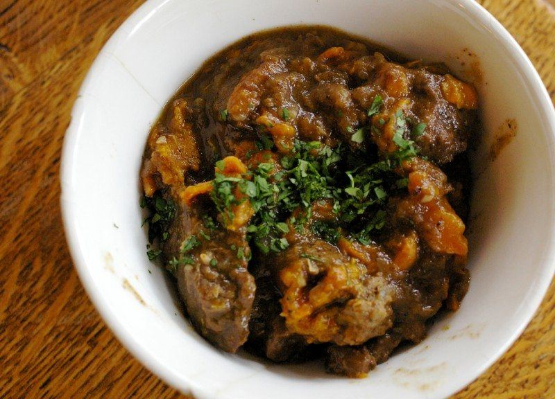 Moroccan Beef Stew with Dried Apricots