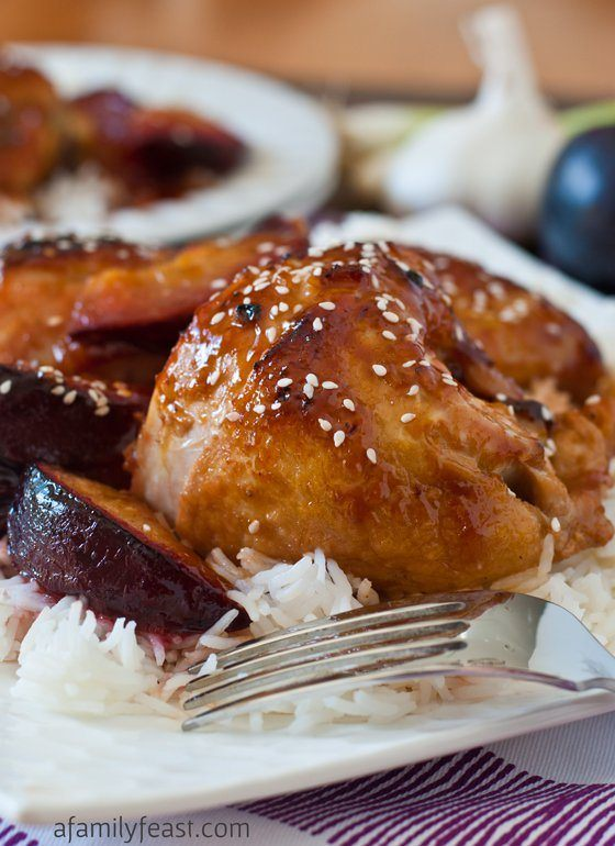 Chicken with Sweet and Sour Plum Sauce
