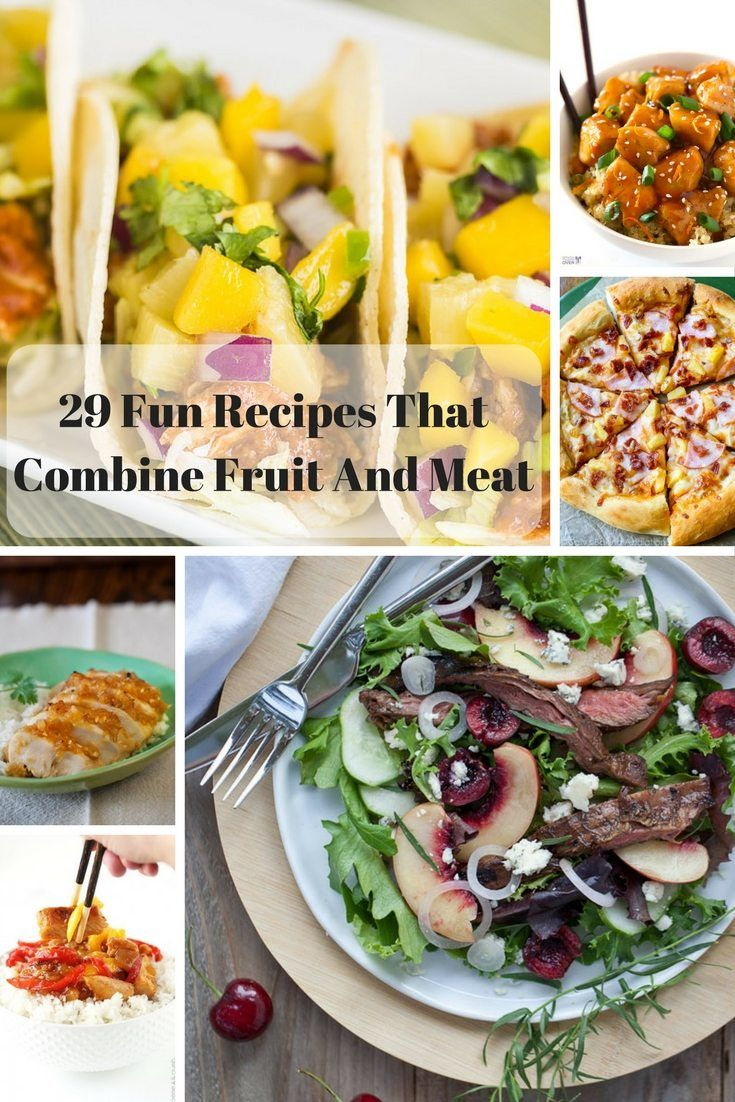 fruit meat combination dishes and recipes pinterest image