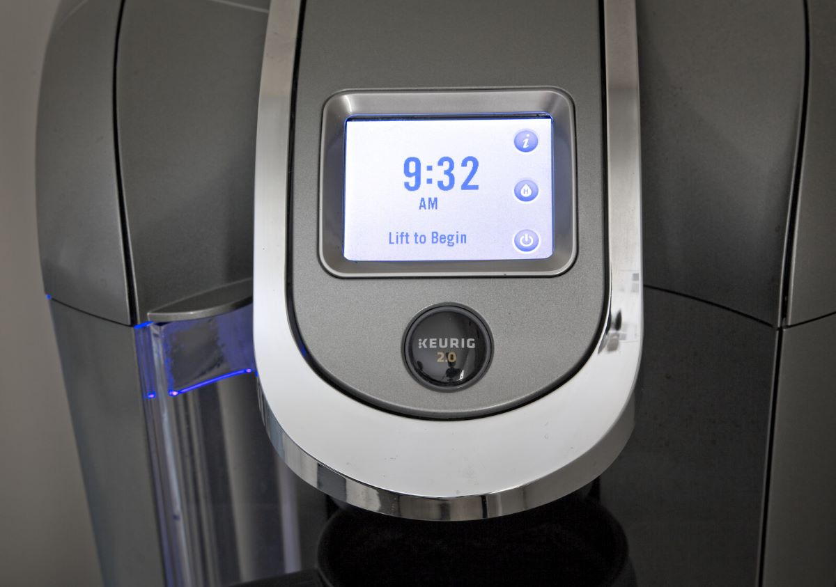 K Cup of the Month Clubs - Keurig 2.0 machine with lit up display