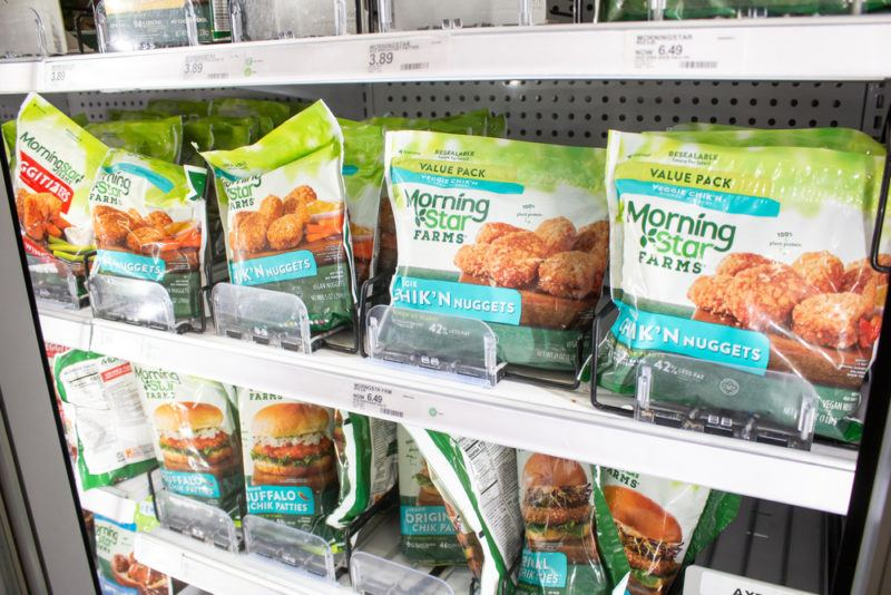 A selection of MorningStar Farms meatless products