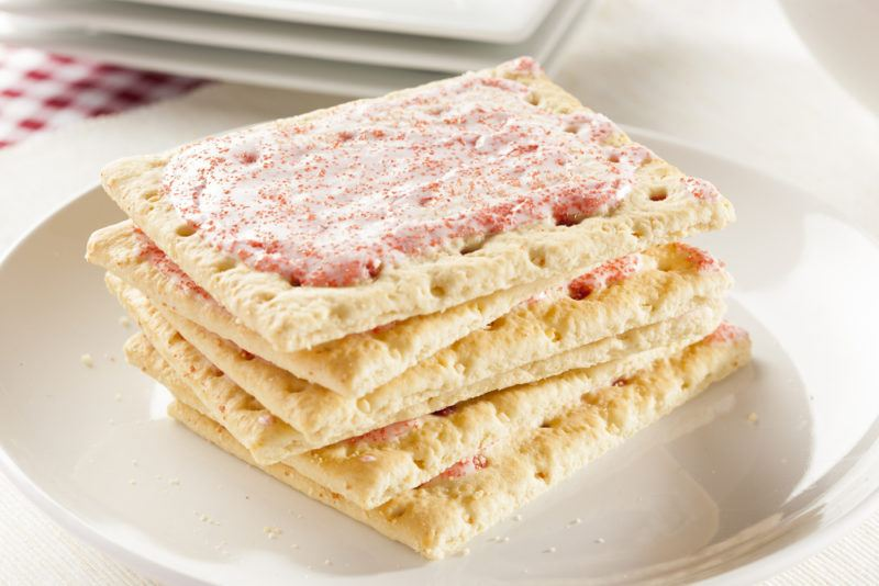 A small stack of frosted Pop Tarts