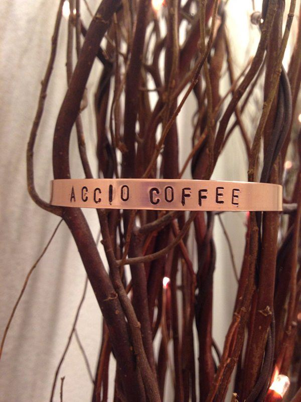 Accio Coffee Stamped Cuff