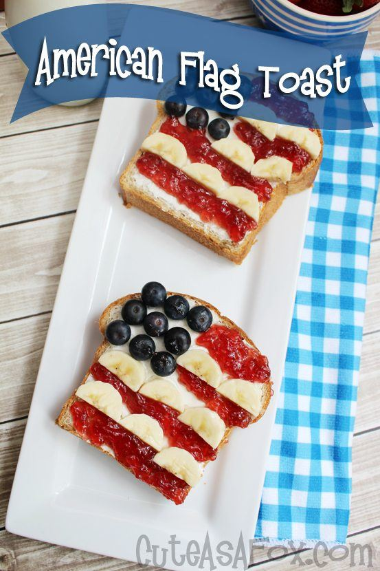 American Flag Toast