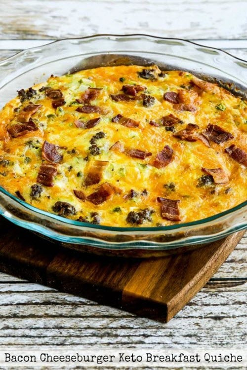 A bacon crustless quiche with no crust.