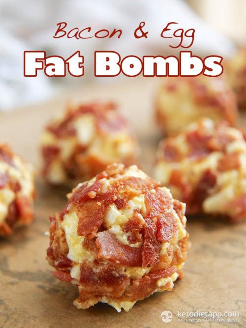 Bacon and egg fat bombs