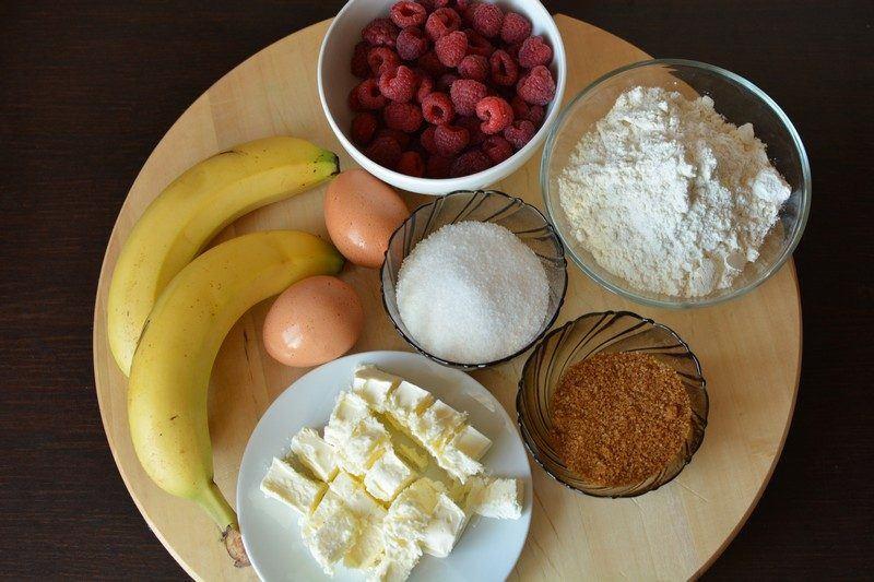Banana cupcakes ingredients