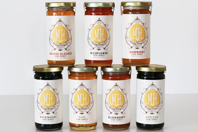 7 jars of Beekeeper's Choice Honey