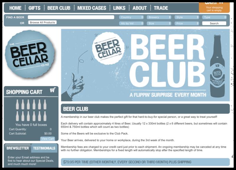Beer Cellar's Beer Club screenshot