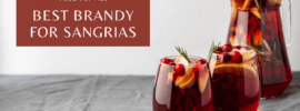 A jug and two glasses of sangria