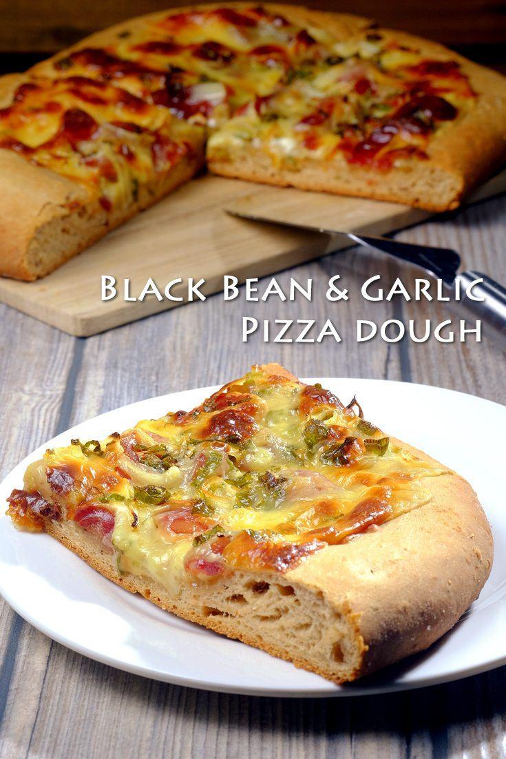 Black Bean & Garlic Pizza Dough Full Recipe on FoodForNet.com