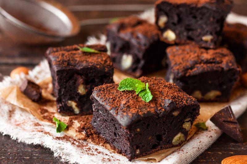 Various chocolate brownies