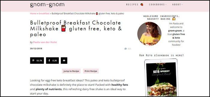 Website screenshot from Gnom Gnom